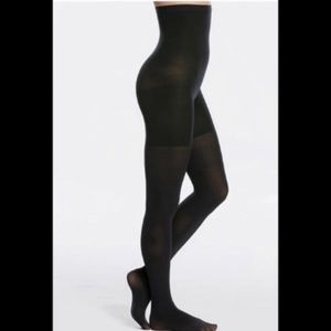 NIB SPANX High Waisted Shaping Tights Black Size F